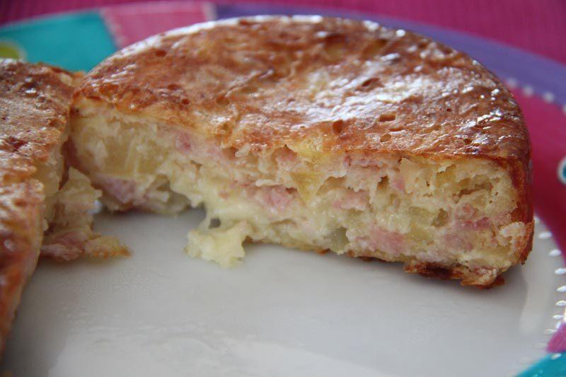 Gâteaux de pommes de terre aux lardons fumés