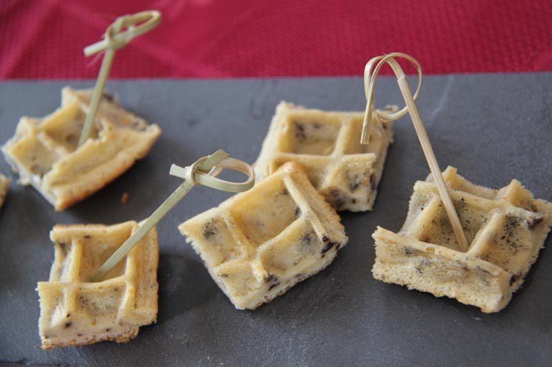 Gaufres apéritives aux olives (recette Tupperware)