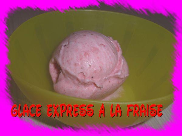 Glace express à la fraise