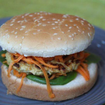 Hamburgers de poulet thai