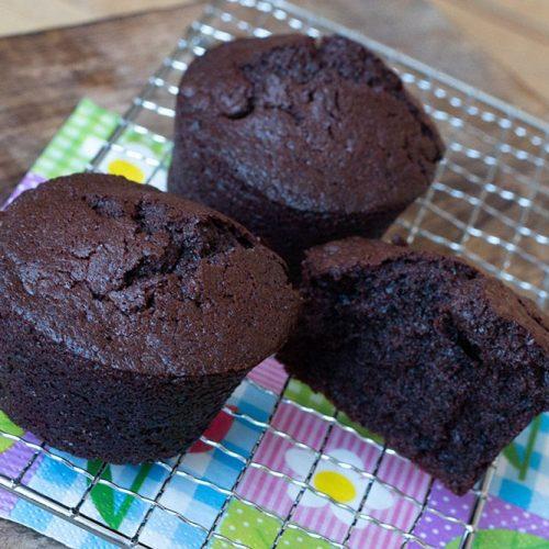 Les Muffins tout chocolat de Chrystel