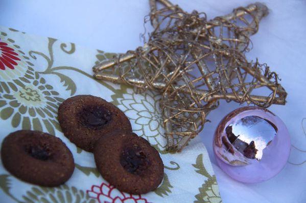 Linzele (Boule de Linz) (Sablés à la confiture de framboises)