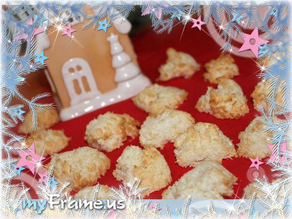 Macarons à la noix de coco (avec des blancs d'oeufs)