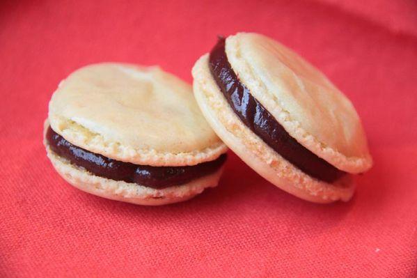 Macarons de Lydie Ganache Chocolat au caramel