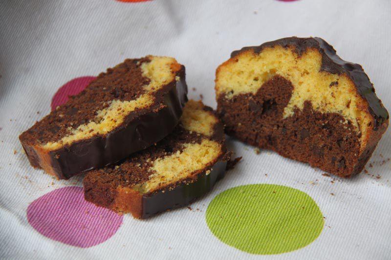 Marbré Orange et Chocolat