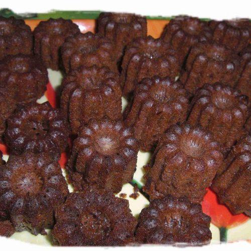 Mini cannelés au chocolat
