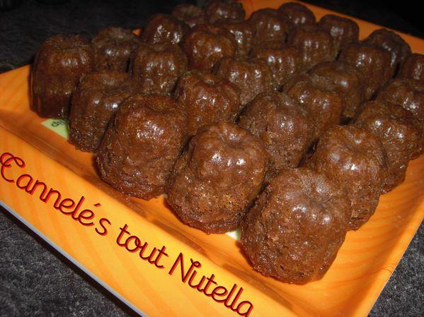 Mini cannelés tout Nutella