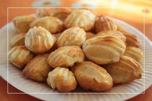 Mini madeleines aux asperges et au Boursin