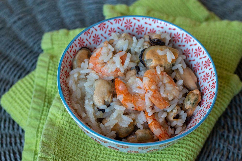 Moules et crevettes au riz (au Cookeo)