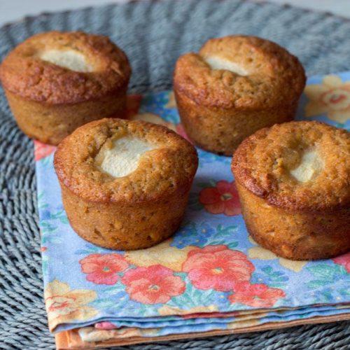 Muffins aux pommes râpées et aux flocons d'avoine