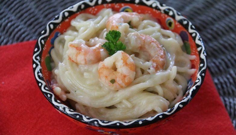 One-Pot Pasta aux crevettes et au lait de coco 1