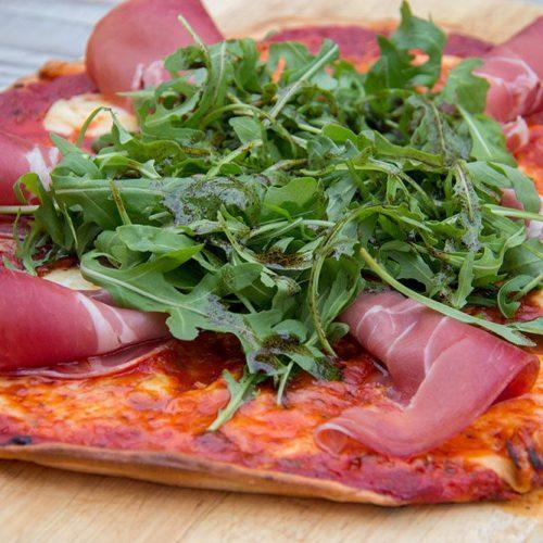 Pizza Jambon Cru et Roquette