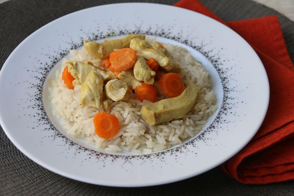 Poulet aux carottes – sauce au curry (au Cookeo)