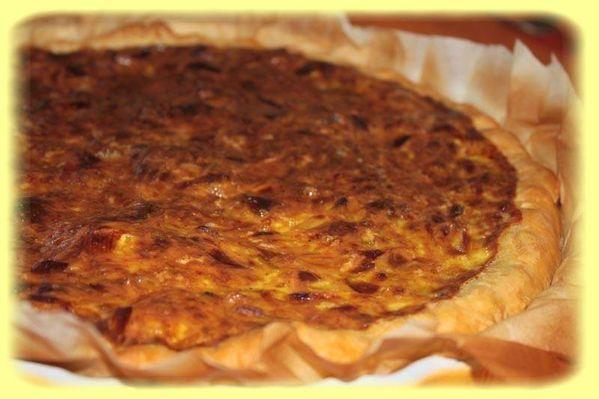 Quiche poireaux – crevettes et curry