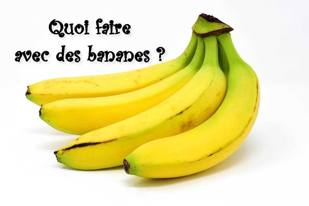 Quoi faire avec des bananes ?