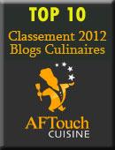 Résultats du classement des blogs culinaires 2012 – Aftouch Cuisine