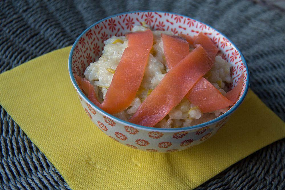 Risotto au poireau et au saumon fumé (au Thermomix ou sans)