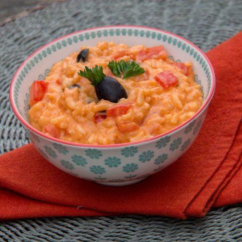 Risotto aux poivrons rouges et piment d'Espelette