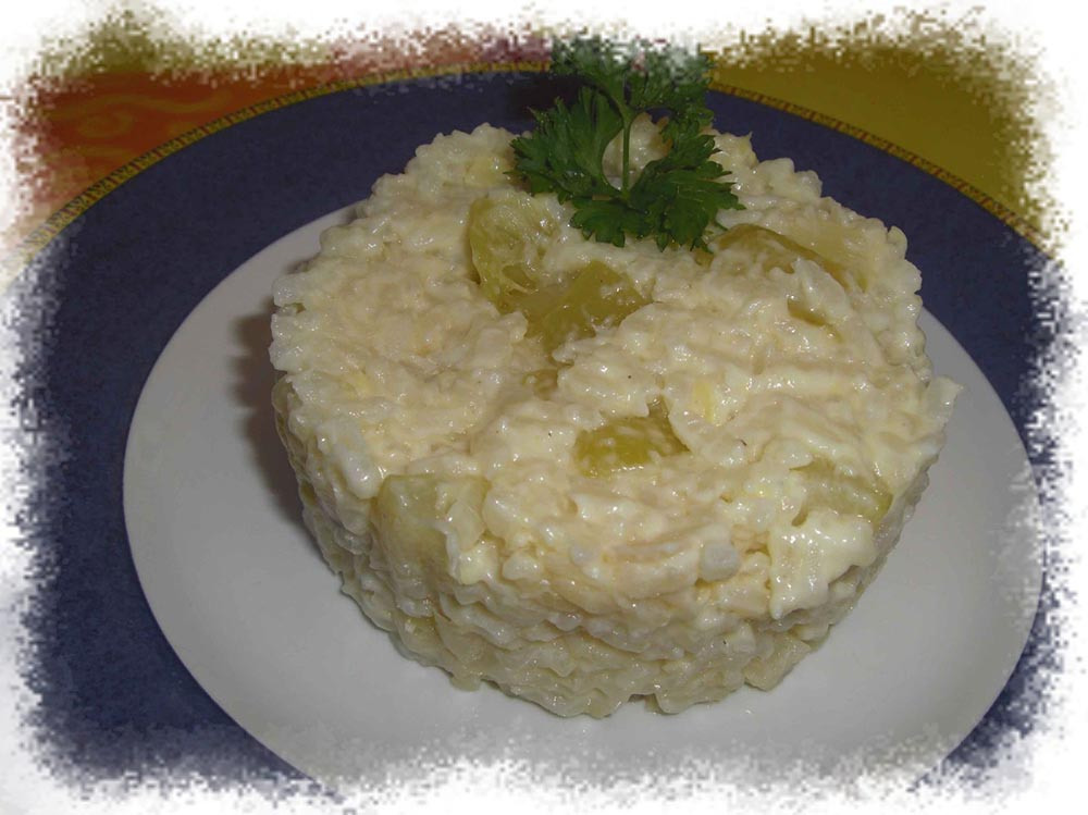 Risotto de courgettes