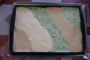 Roulé tricolore à la crème de fromage
