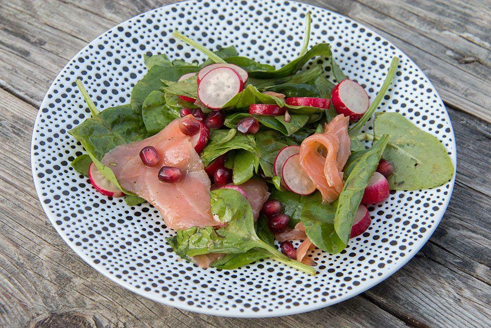 Salade Epinards – Saumon fumé