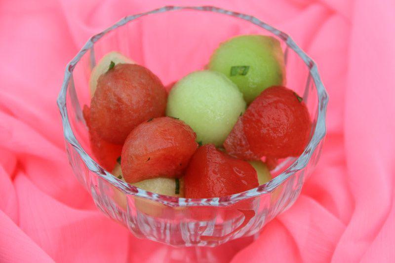 Salade de melon – pastèque à la menthe