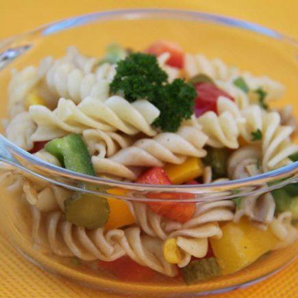 Salade de pâtes aux poivrons
