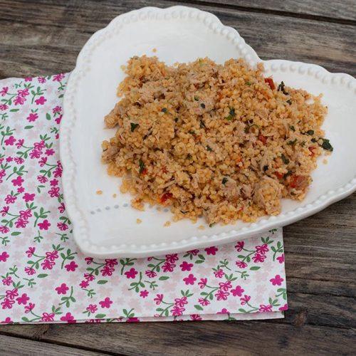 Salade de semoule au thon et tomates séchées