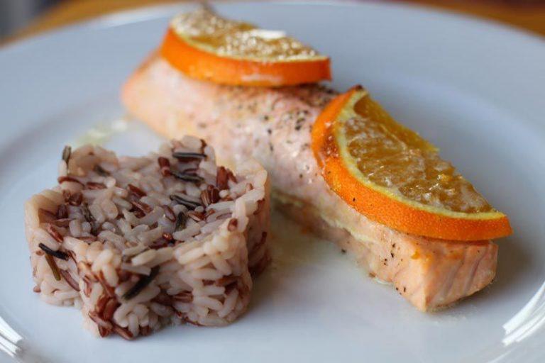 saumon à l'orange