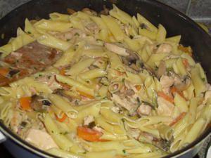 Sauté de poulet aux pâtes