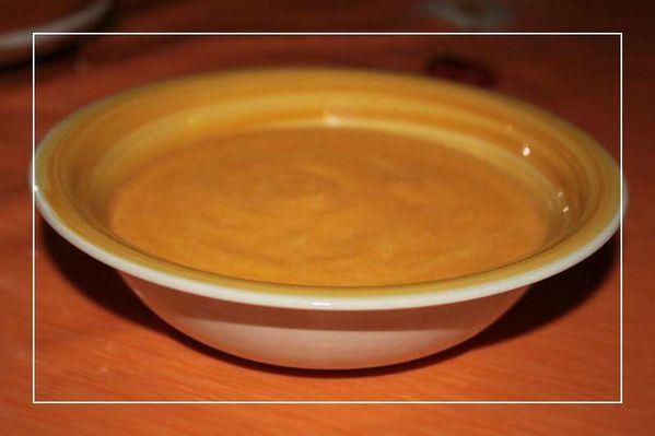 Soupe de carottes à la Vache qui rit