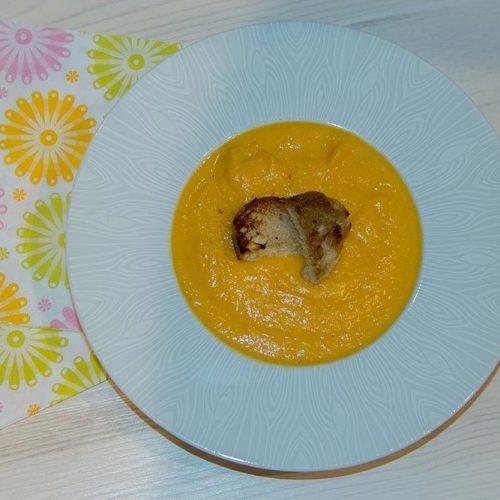 Soupe de potimarron cuite dans le lait