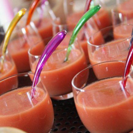 Soupe froide de tomates et de pastèques