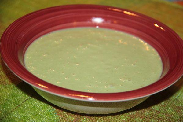 Soupe poulet pommes de terre épinards
