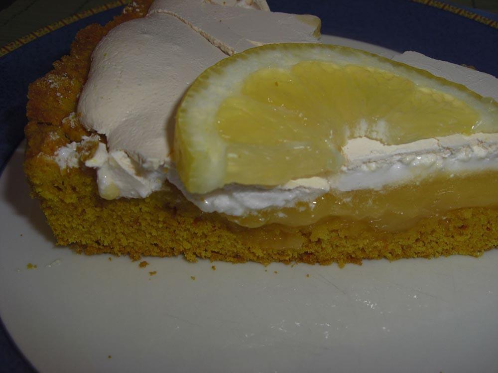 Tarte au citron meringuée pâte au curcuma (avec et sans thermomix)