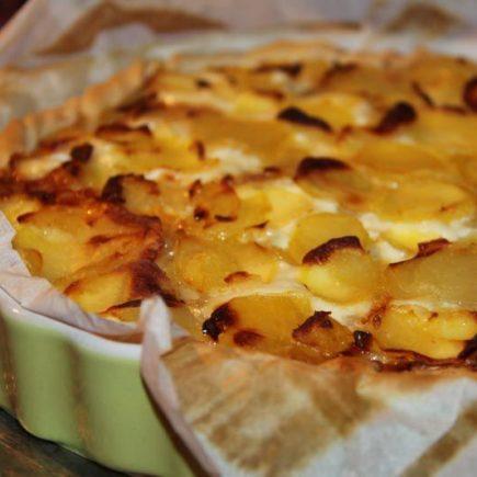 Tarte moelleuse aux pommes de terre