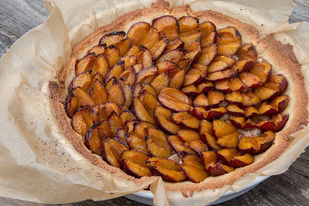 Tarte sablée aux quetsches (prunes) ou mirabelles