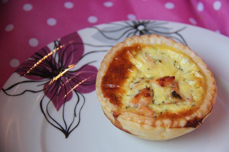 Tartelettes printanières (asperges vertes et saumon)