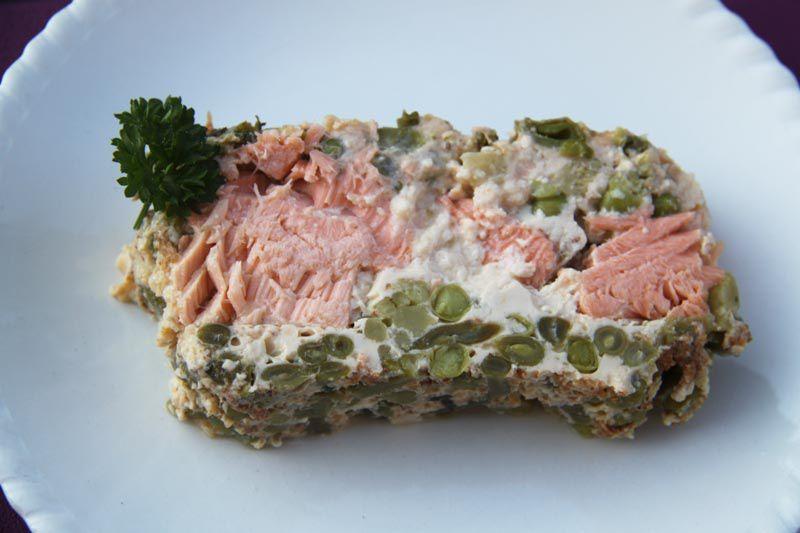 Terrine de poisson aux légumes verts (recette Tupperware)