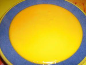 velouté de carottes oranges et lait de coco