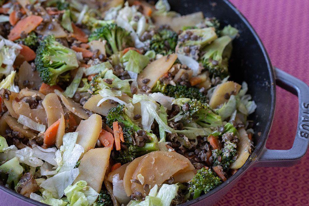 Wok de légumes (recette de Cyril Lignac)