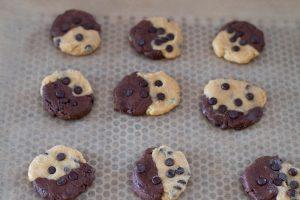 Cookies bicolores aux pépites de chocolat
