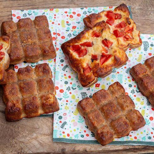 Gâteau de crackers au thon et à la tomate apero petites tablettes Flexipan Demarle