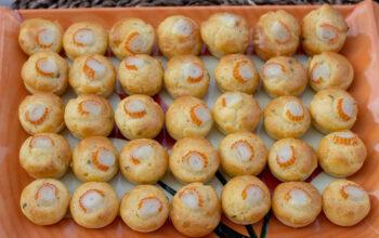 Bouchées surimi ail et fines herbes apéro aperitif empreintes petits fours flexipan demarle
