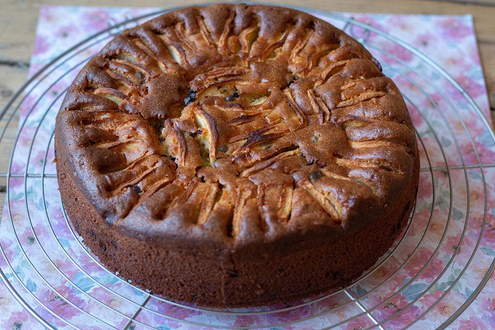 Gâteau Pommes, Mascarpone et chocolat