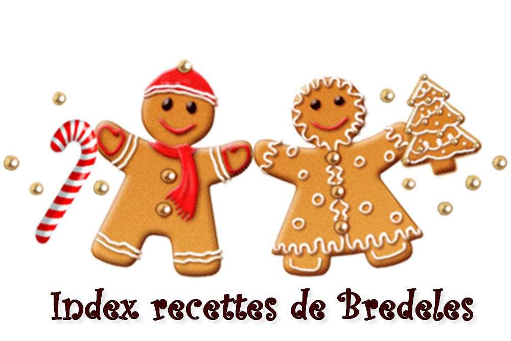 Index Petits Gâteaux de Noël (Bredeles)