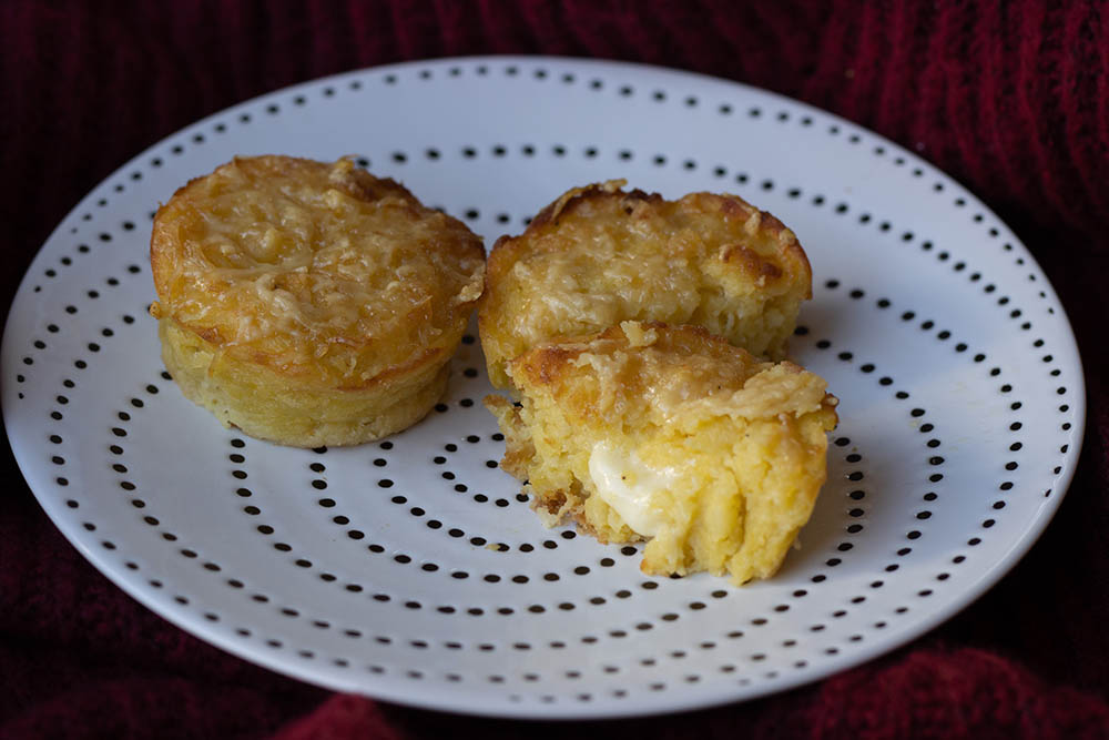 Muffins pommes de terre coulant au fromage