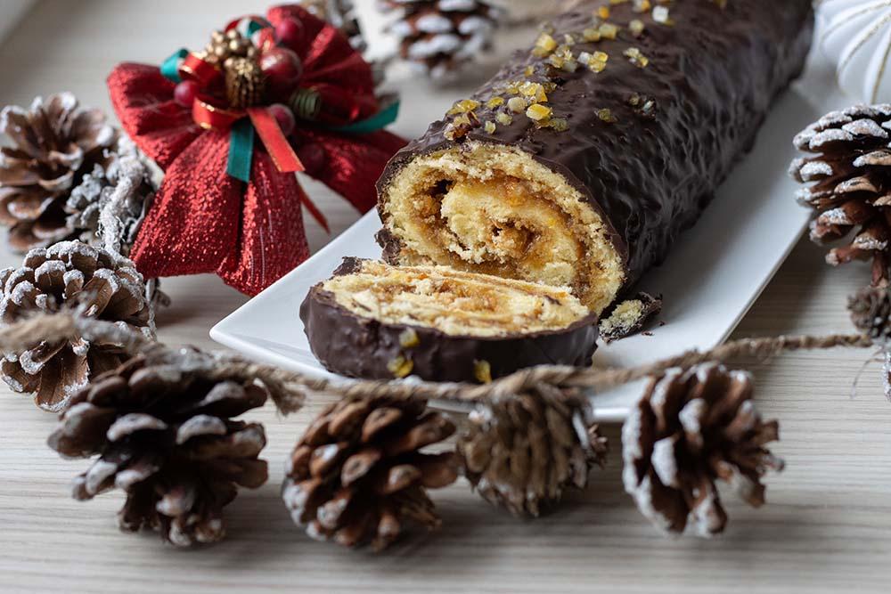 Biscuit roulé chocorange chocolat orange