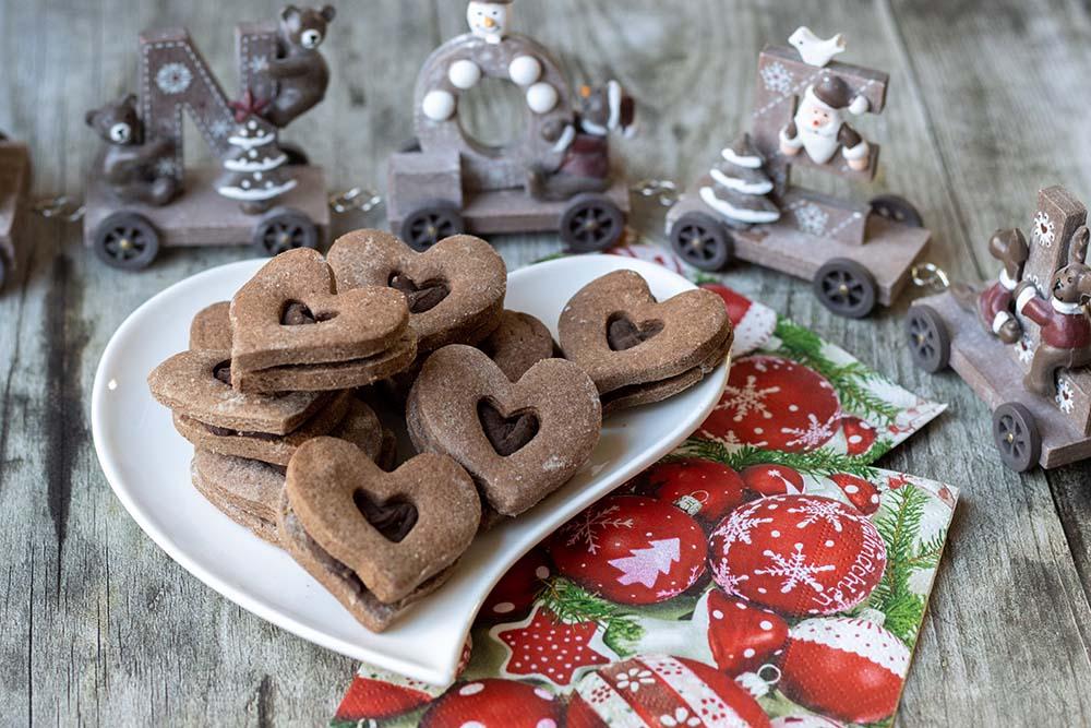 Cœurs au chocolat et à la cannelle (Bredeles 2020)