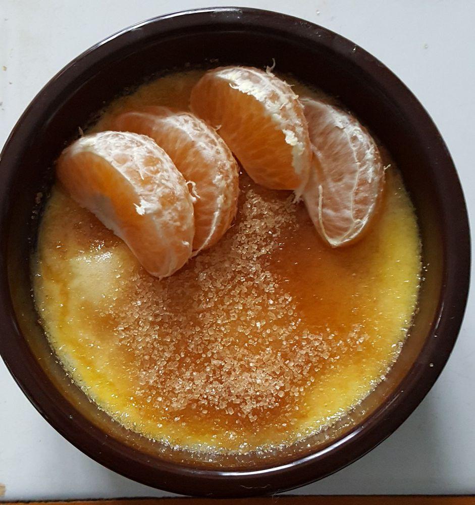 crèmes brûlées à la mandarine